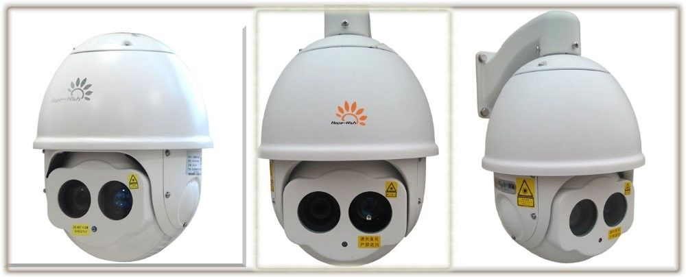 200m Network HD IR Night Vision Camera , Laser 30X Pan Tilt Dome Camera